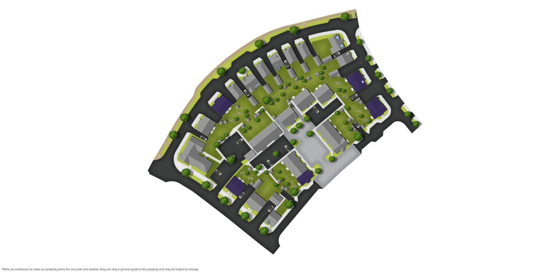 Boorley Park, Botley (Bloor) Sitemap_207 - 243_B-1